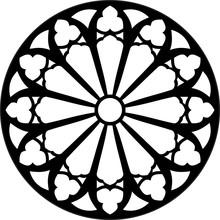 Gothic Rosette Window Pattern,...