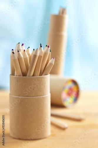 Fotografía Colored pencils in pencil case