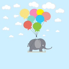 FototapetaElephant on the balloons