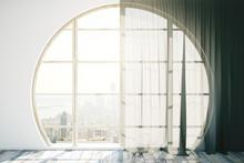 Creative Interior With Round Window