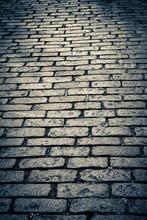 Dark Old Cobblestone Street