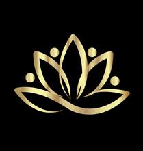 Gold Lotus Team Yoga Logo