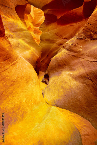 obraz lub plakat sand and sandstone in lower antelope canyon