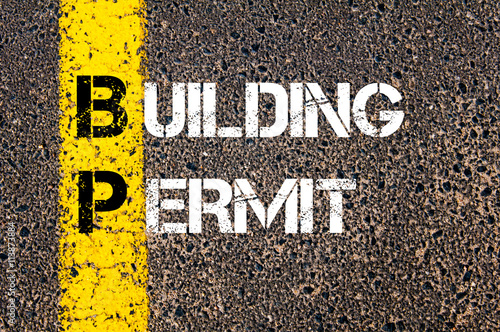 Fotomural  Concept image of Business Acronym BP Building Permit