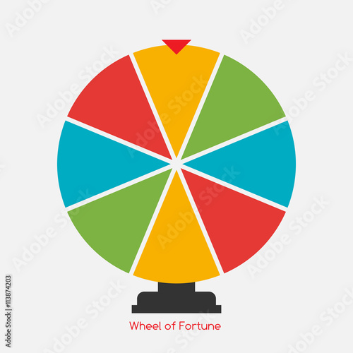 Photographie  Wheel of Fortune, Lucky Icon. Vector Illustration