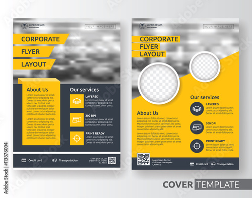 Fotografie, Obraz  Multipurpose business corporate flyer layout design