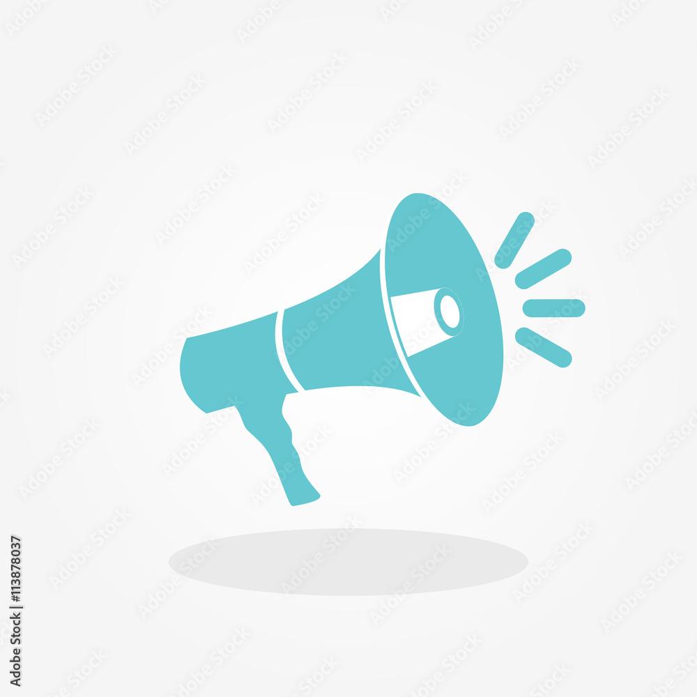 Fototapeta Megaphone Icon Vector Illustration