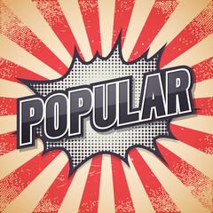 Popular, Retro poster, Vector illustration.