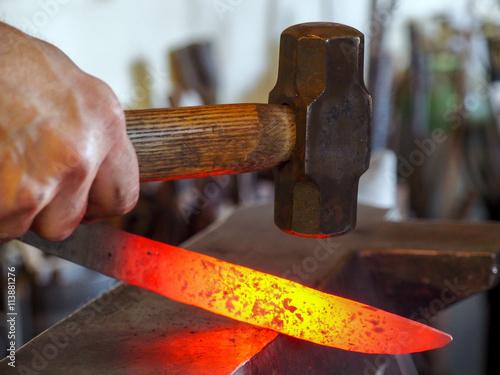 Fotografie, Obraz  Messerherstellung