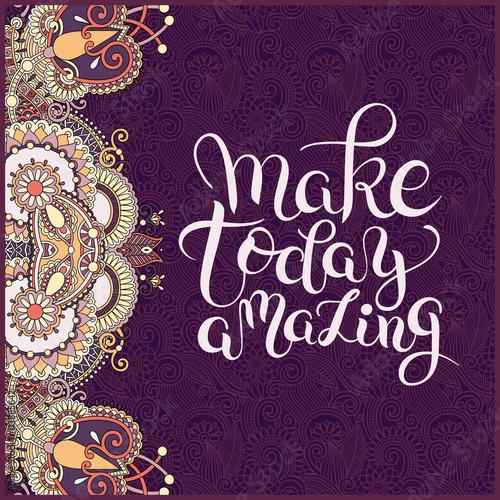 napis-make-today-amazing-na-ciemno-fioletowym-tle