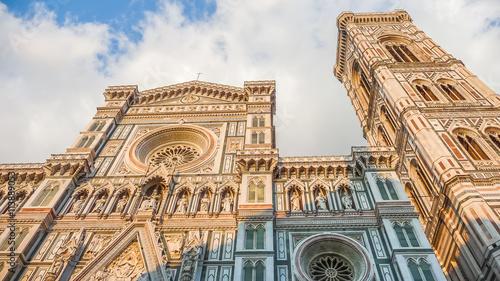 Fotografie, Obraz  Famous Cathedral Santa Maria Del Fiore with Giotto's Campanile in Florence, Tusc