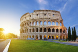 View of Colosseum in Rome at sunrise - 113900014