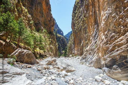 Canvas Print Samaria Gorge on Crete, Grece