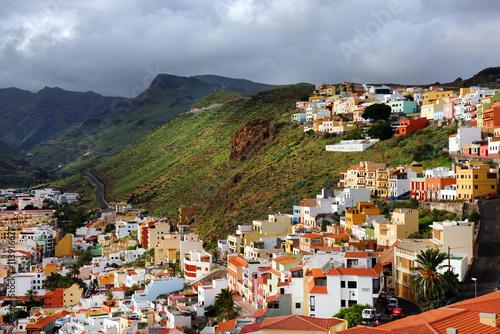 Fototapeta premium Detal architektoniczny w San Sebastian de la Gomera, Wyspy Kanaryjskie, Hiszpania