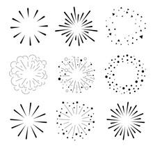 Set Of Sparkles And Bursts. Mi...
