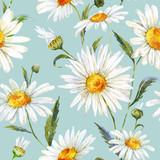 Watercolor daisy pattern