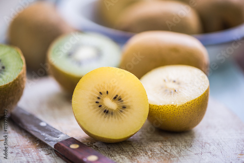 golden sweet kiwi halves