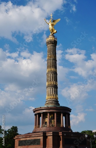 Photo  The Victory Column (Siegessaule)  monument in Berlin