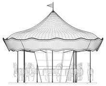 Merry-Go-Round Horse Carousel Vector
