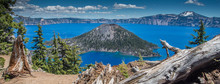 Wizard Island In Crater Lake N...