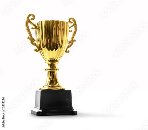 Leinwand Poster trophy on white
