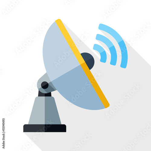 Fotografía  Vector Satellite Antenna icon