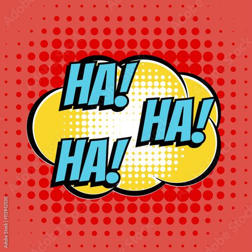 Fotografija  Ha comic book bubble text retro style
