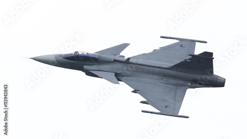 LEEUWARDEN, THE NETHERLANDS-JUNE 10: Modern tactical fighter jet Fototapet