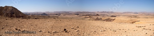 Aluminium Prints Drought Wide angle panorama of Desert landscape