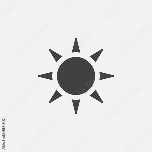 Obraz sun icon - fototapety do salonu