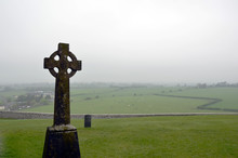 Celtic Cross On Old Cemetery A...