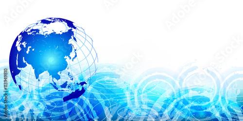 地球 海 世界 背景 Canvas Print