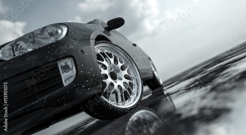 car-on-wet-road