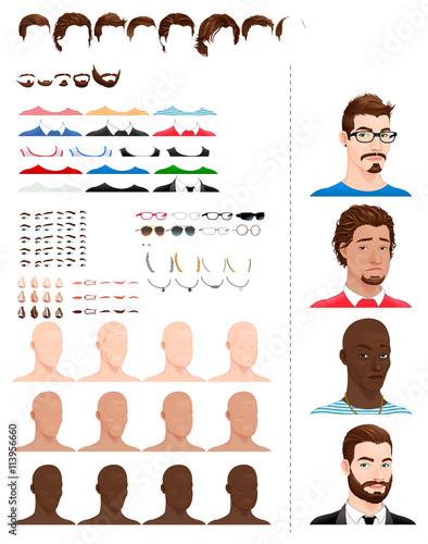 Poster Chambre d enfant Male avatars