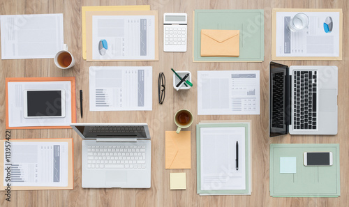 Fotomural  Business team desktop