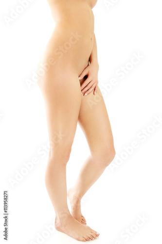 Naked landing strip pussy