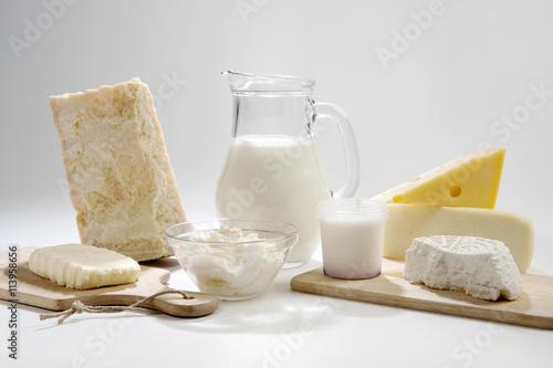Poster de jardin Produit laitier Prodotti italiani del latte