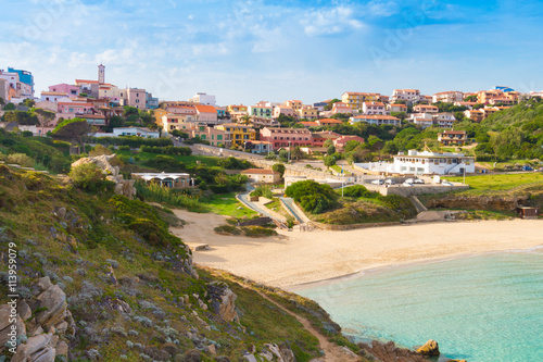 Fotografia, Obraz Rena Bianca; famous white beach in Santa Teresa di Gallura, Sardinia, Italy