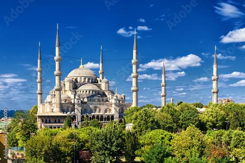 Poster Turquie Blue Mosque, Sultanahmet, Istanbul, Turkey