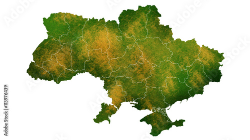 Photo Ukraine map Europe continent texture map