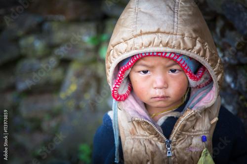 Fotografie, Obraz  Nepal child