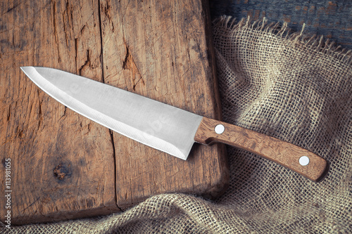 Fotomural Big kitchen knife