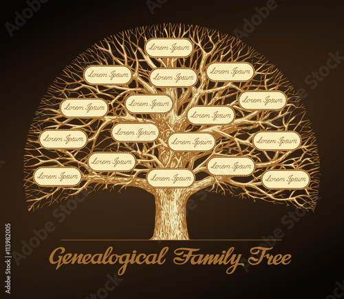 Genealogical family tree. Dynasty. Vector illustration Fototapet