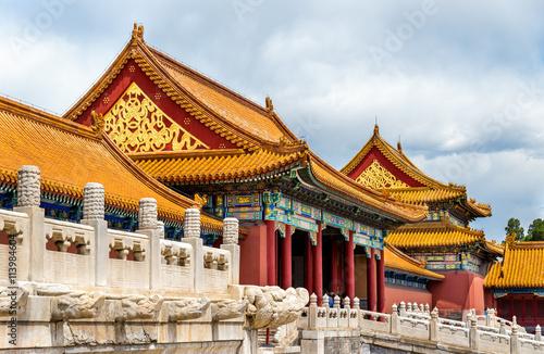 Foto op Aluminium Beijing Gate of Supreme Harmony in the Forbidden City - Beijing