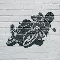 Fototapeta Motor Art urbain, moto