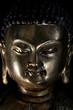 Kopf einer antiken Buddha Figur aus Messing