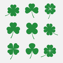 Clover Leaves Vector Set
