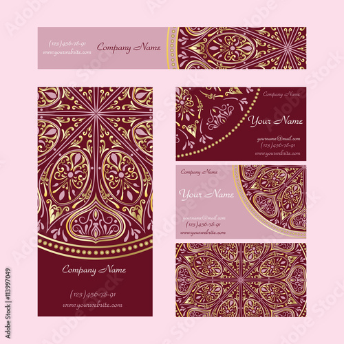 set booklets templates business cards invitations and banners