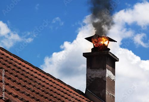 Carta da parati Chimmney on fire