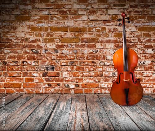 Tableau sur Toile Cello in the interior